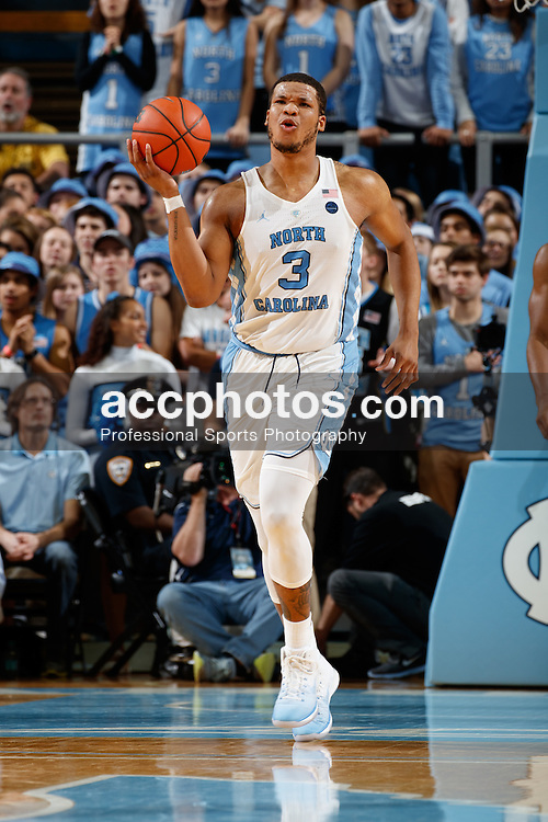 CHAPEL HILL, NC - JANUARY 31: Kennedy Meeks #3 of the North Carolina Tar Heels reacts against the Pittsburgh Panthers on January 31, 2017 at the Dean Smith Center in Chapel Hill, North Carolina. North Carolina won 80-78. (Photo by Peyton Williams/UNC/Getty Images) *** Local Caption *** Kennedy Meeks