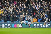 Millwall defender Shaun Hutchinson (4) celebrates after scoring a goal (1-0) during the EFL Sky Bet Championship match between Millwall and Charlton Athletic at The Den, London, England on 9 November 2019.