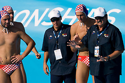 Coach of Croatia Ratko Rudic during waterpolo Semifinal Round match between National teams of Croatia and Serbia during the 13th FINA World Championships Roma 2009, on July 30, 2009, at the Stadio del Nuoto,  Foro Italico, Rome, Italy. Serbia won 12:11. (Photo by Vid Ponikvar / Sportida)
