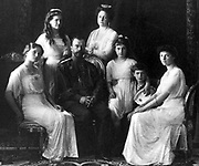 Portrait by the Levitsky Studio, the last Russian Royal Family, Livadia, 1914.