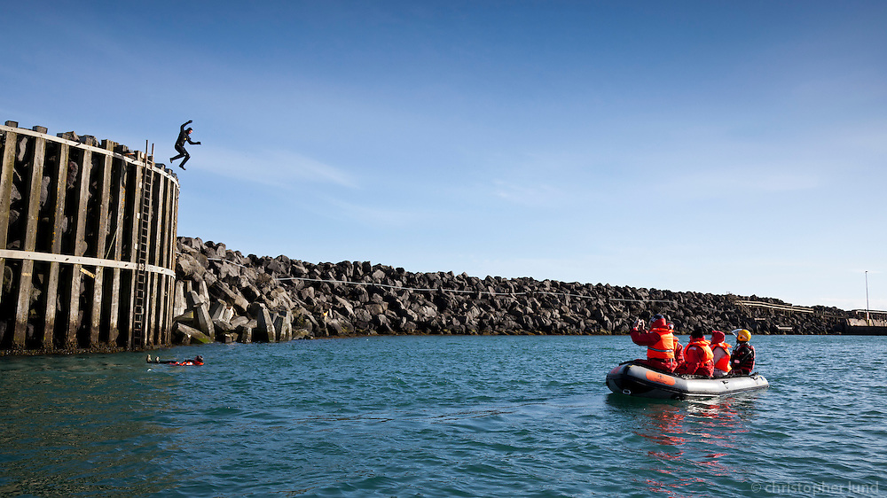 Boat trip with local Search and Rescue Team at Þorlákshöfn, South Iceland.
