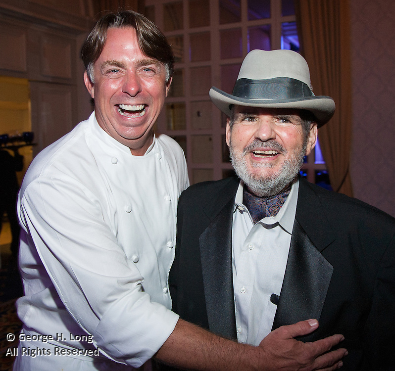 Chefs John Besh and Paul Prodhomme at the Ella Brennan Lifetime Achievement in Hospitality Award Dinner honoring Chef Paul Prudhomme; New Orleans Wine & Food Experience