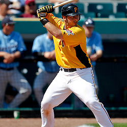 February 25, 2011; Bradenton, FL, USA; Pittsburgh Pirates catcher Wyatt Toregas during a spring training exhibition game against the State College of Florida Manatees at McKechnie Field. The Pirates defeated the Manatees 21-1. Mandatory Credit: Derick E. Hingle