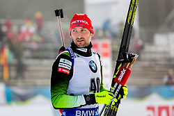 Jakov Fak (SLO) during Flower ceremony after the Men 20km Individual at day 5 of IBU Biathlon World Cup 2018/19 Pokljuka, on December 6, 2018 in Rudno polje, Pokljuka, Pokljuka, Slovenia. Photo by Ziga Zupan / Sportida
