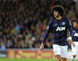 Man Utd Midfielder Marouane Fellaini (BEL) - Photo mandatory by-line: Joseph Meredith/JMP - Tel: Mobile: 07966 386802 - 24/11/2013 - SPORT - FOOTBALL - Cardiff City Stadium - Cardiff City v Manchester United - Barclays Premier League.