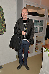 SIMON MILLS at the launch of the Private White VC flagship store, 73 Duke Street, London on 11th December 2014.