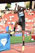 Mutaz Essa Barshim (QAT) ties for 10th in the high jump at 7-2 1/2 (2.20m) in the IAAF Diamond League final during the Weltkasse Zurich at Letzigrund Stadium, Thursday, Aug. 29, 2019, in Zurich, Switzerland. (Jiro Mochizuki/Image of Sport)