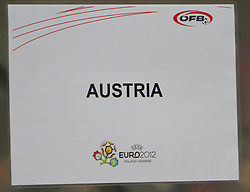 07.09.2010, Red Bull Arena, Salzburg, AUT, UEFA 2012 Qualifier, Austria vs Kazakhstan, im Bild Feature, Tafel AUSTRIA, EXPA Pictures © 2010, PhotoCredit: EXPA/ D. Scharinger / SPORTIDA PHOTO AGENCY