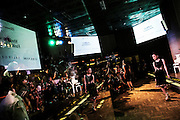 JAKARTA - INDONESIA; WEDNESDAY, OCTOBER 8, 2014; INDONESIA ECONOMIC RISING: People attend a fashion show for youth at a Gallery in Grand Indonesia Mall, Jakarta, Indonesia on Wednesday, October 8, 2014.