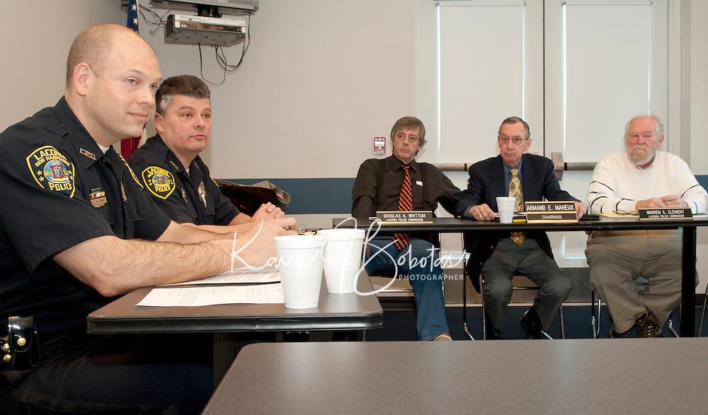 Naming of new Laconia Police Chief Chris Adams.   Karen Bobotas/for the Laconia Daily Sun