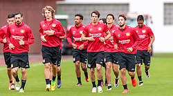 01.08.2016, Alois Latini Stadion, Zell am See, AUT, Bayer 04 Leverkusen, Trainingslager, im Bild Roberto Hilbert (Bayer 04 Leverkusen), Tin Jedvaj (Bayer 04 Leverkusen), Robbie Kruse (Bayer 04 Leverkusen), Hakan Calhanoglu (Bayer 04 Leverkusen) // during the Trainingscamp of German Bundesliga Club Bayer 04 Leverkusen at the Alois Latini Stadium in Zell am See, Austria on 2016/08/01. EXPA Pictures © 2016, PhotoCredit: EXPA/ JFK