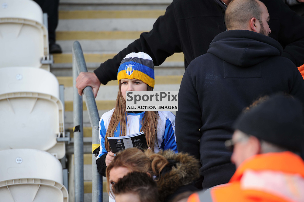 A young Colchester fan before the Colchester v Tottenham game in the FA Cup 4th Round on the 30th January 2016.