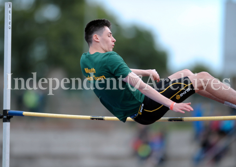 21 Aug 2016:  Boys U16 High Jump final.  2016 Community Games National Festival 2016.  Athlone Institute of Technology, Athlone, Co. Westmeath. Picture: Caroline Quinn