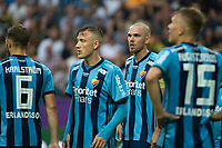 2019-09-01 | Solna, Sweden: Djurgårdens IF (3) Markus Danielson and (23) Fredrik Ulvestad, during the game between AIK and Djurgårdens IF at Friends Arena ( Photo by: Simon Holmgren | Swe Press Photo )<br /> <br /> Keywords: Friends Arena, Solna, Soccer, Allsvenskan, AIK, Djurgårdens IF