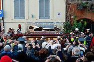 Rome, Italy. 5th Febraury 2016 <br /> The relic of St. Leopold Mandic  in procession from the Church of San Salvatore in Lauro to go to the Vatican. The St. Leopold Mandic  were called to Rome by Pope Francis as symbol of the Mercy Jubilee.