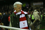 The lucky hawk  during the The FA Cup 2nd Round Replay match between Whitehawk FC and Dagenham and Redbridge at the Enclosed Ground, Whitehawk, United Kingdom on 16 December 2015. Photo by Phil Duncan.