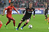 v.l. Aymen Barkok, Lars Bender (Leverkusen)<br /> Leverkusen, 11.02.2017, Fussball Bundesliga, Bayer 04 Leverkusen - Eintracht Frankfurt 3:0<br /> <br /> Norway only