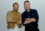 Designer Todd Snyder, right, and actor Kellan Lutz pose for a photo before the Todd Snyder Spring 2017 fashion show, where the Timex Mod Watch was debuted, Thursday, July 14, 2016, at New York Fashion Week: Men's.   (Diane Bondareff/AP Images for Timex)
