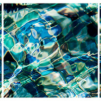 Mosaic Blue triptych: Available<br />