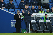 Coventry City manager Mark Robins gestures during the The FA Cup match between Brighton and Hove Albion and Coventry City at the American Express Community Stadium, Brighton and Hove, England on 17 February 2018. Picture by Phil Duncan.
