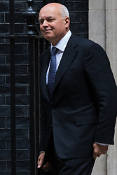 Downing Street, London, June 9th 2015. Iain Duncan-Smith, Work and Pensions Secretary leaves 10 Downing Street following the weekly meeting of the Cabinet.