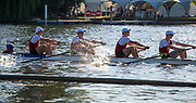 Henley on Thames, England, United Kingdom, 3rd July 2019, Henley Royal Regatta, Prince Albert Challenge Cup, Harvard University, at the 1 and 1/8 barrier,  Henley Reach, [© Peter SPURRIER/Intersport Image]<br /> <br /> 18:50:07 1919 - 2019, Royal Henley Peace Regatta Centenary,