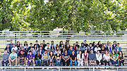 The Cal Hills High School Class of 2015 poses for a portrait at the Milpitas Sports Center in Milpitas, California, on June 4, 2015. (Stan Olszewski/SOSKIphoto)