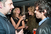 KEITH TYSON; KIM HERSOV; MEREDITH OSTROM; BARRY REIGATE; , Polly Morgan 30th birthday. The Ivy Club. London. 20 January 2010