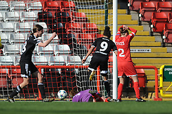 FFC Frankfurt's Celia Sasic scores a goal. - Photo mandatory by-line: Dougie Allward/JMP - Mobile: 07966 386802 - 21/03/2015 - SPORT - Football - Bristol - Ashton Gate Stadium - Bristol Academy v FFC Frankfurt - UEFA Women's Champions League - Quarter Final - First Leg