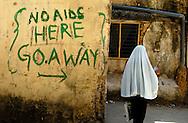'No AIDS here - go away'