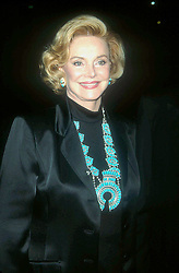 July 25, 2017 - FILE - BARBARA MARX SINATRA (October 16, 1927 - July 25, 2017) was an American former model showgirl, philanthropist and widow of Frank Sinatra, died Tuesday at her home Rancho Mirage, California. She was 90. 'She died comfortably surrounded by family and friends at her home,' said Director of the Barbara Sinatra Children's Center Foundation, said in a statement. The philanthropist was the music icon's fourth wife. They were married in 1976 until Frank Sinatra's death in 1998. Pictured: October 5, 2001 - Los Angeles - 13th Gala Western Heritage Awards. Autry Museum. Barbara Sinatra. (Credit Image: © Milan Ryba via ZUMA Wire)