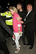 13.MAY.2013. LONDON<br /> <br /> RITA ORA AND CALVIN HARRIS LEAVING THE SHARD IN LONDON AFTER ATTENDING PAFT PUNK'S ALBUM LAUNCH PARTY HOLDING HANDS.<br /> <br /> BYLINE: EDBIMAGEARCHIVE.CO.UK<br /> <br /> *THIS IMAGE IS STRICTLY FOR UK NEWSPAPERS AND MAGAZINES ONLY*<br /> *FOR WORLD WIDE SALES AND WEB USE PLEASE CONTACT EDBIMAGEARCHIVE - 0208 954 5968*