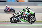Leon Haslam (91) JG Speedfit Kawasaki winner of race 1 at the BSB Championship at the TT Circuit,  Assen, Netherlands on 2nd October 2016. Photo by Nigel Cole.