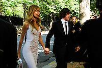 Carles PUYOL et sa femme Vanessa Lorenzo  - 17.05.2015 - Ceremonie des Trophees UNFP 2015<br /> Photo : Nolwenn Le Gouic / Icon Sport