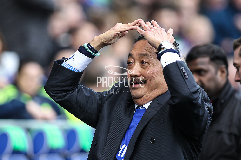 Cardiff City owner Vincent Tan before the EFL Sky Bet Championship match between Cardiff City and Millwall at the Cardiff City Stadium, Cardiff, Wales on 28 October 2017. Photo by Andrew Lewis.
