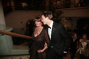 Lady Annabel Goldsmith and Ben Goldsmith, THE DINER DES TSARS in aid of UNICEF. To celebrate the launch of Quintessentially Wine, Guildhall. London. 29 March 2007.  -DO NOT ARCHIVE-© Copyright Photograph by Dafydd Jones. 248 Clapham Rd. London SW9 0PZ. Tel 0207 820 0771. www.dafjones.com.