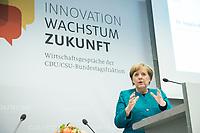 24 APR 2017, BERLIN/GERMANY:<br /> Angela Merkel, CDU, Bundeskanzlerin, 9. Energiepolitischer Dialog der CDU/CSU-Fraktion im Deutschen Bundestag &quot;Spannungsfeld Energiewende - Die Energiewende wirtschaftlich gestalten&quot;, Fraktionssitzungssaal, Deutscher Bundestag<br /> IMAGE: 20170424-01-158