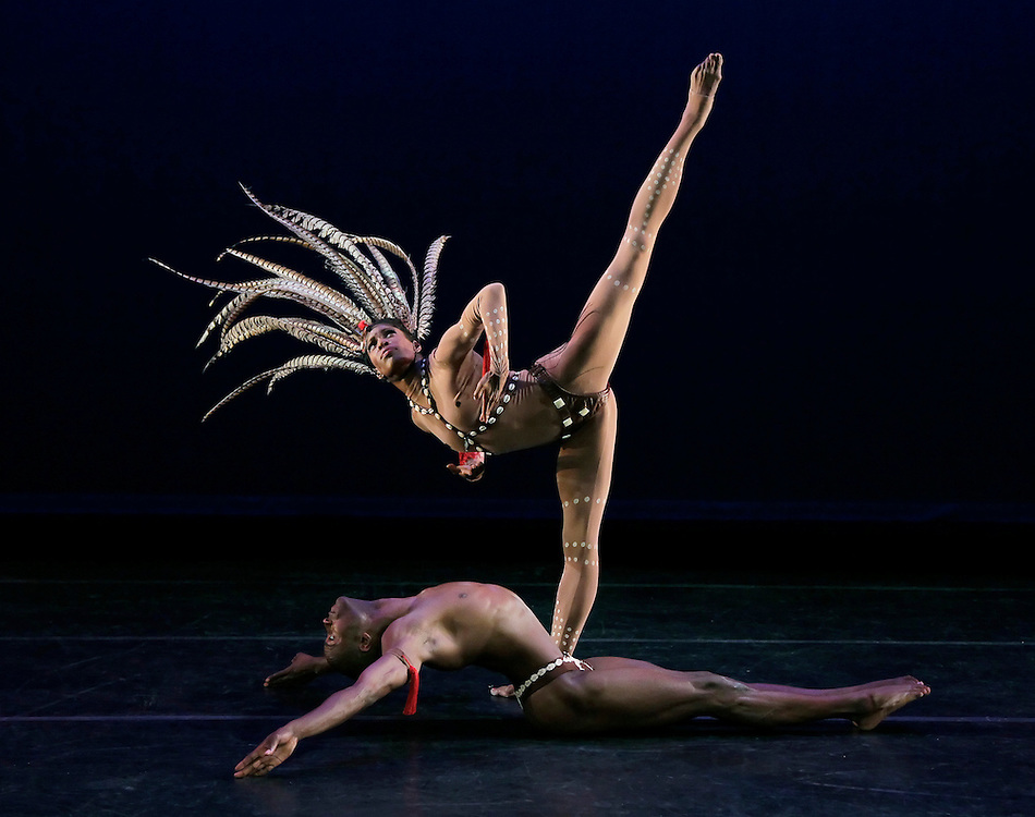 The Prodigal Prince.Alvin Ailey American Dance Theater.Choreography by Geoffrey Holder.Credit photo: ©Paul Kolnik.paul@paulkolnik.com.nyc  212-362-7778