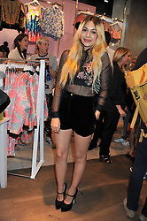 ZARA MARTIN at a party to celebrate the launch of Louise Gray's make-up and clothing collections for Topshop held at Topshop Edited, 286 Regent Street, London on 22nd August 2012.
