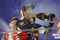 RICCIARDO Daniel (aus) red bull renault rb11 ambiance portrait podium ambiance during the 2015 Formula One World Championship, Singapore Grand Prix from September 16th to 20th 2015 in Singapour. Photo Francois Flamand / DPPI