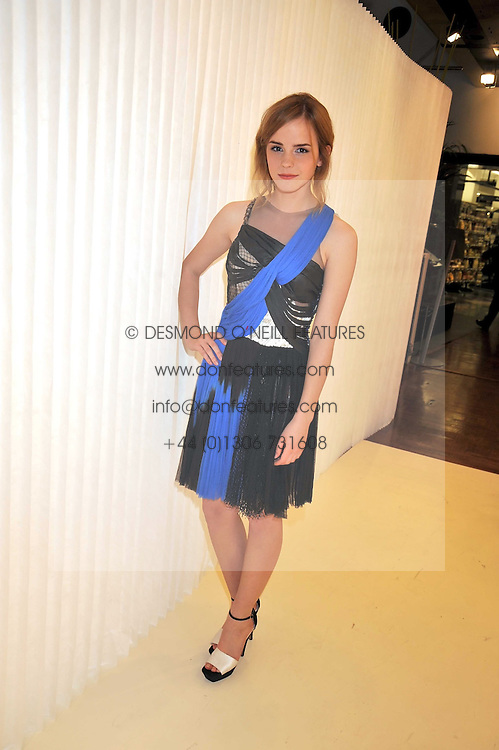 EMMA WATSON at a dinner in honour of design label Rodarte held at the Fifth Floor Restaurant, Harvey Nichols, Knightsbridge, London on 3rd June 2009.