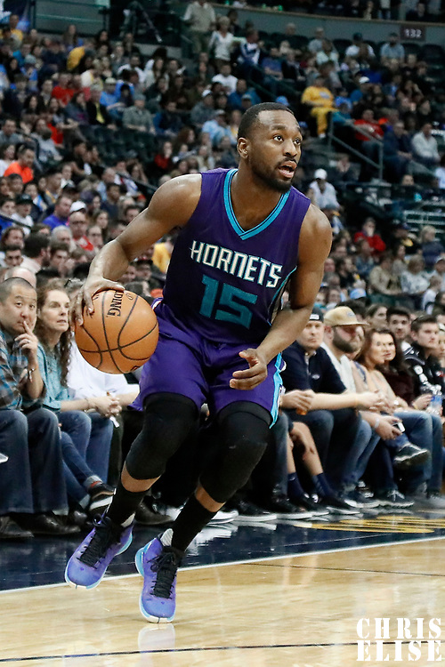 04 March 2017: Charlotte Hornets guard Kemba Walker (15) dribbles during the Charlotte Hornets 112-102 victory over the Denver Nuggets, at the Pepsi Center, Denver, Colorado, USA.