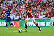 Daley Blind Midfielder of Manchester United during the FA Community Shield match between Leicester City and Manchester United at Wembley Stadium, London, England on 7 August 2016. Photo by Shane Healey.