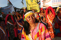 Wayuu Indian ladies participate in parade to celebrate the Beauty Queens of the Wayuu Indians at the annual Wayuu Cultural Festival in Uribia, Colombia June 9, 2007. (Photo/Scott Dalton)