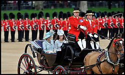 Duchess of Cornwall, Duchess of Cambridge and Prince Harry attend for the Queen's Trooping of the Colour, The Queen's Birthday Parade, on Horse Guards Parade, Saturday June 16, 2012. Photo by Andrew Parsons/i-Images..All Rights Reserved ©Andrew Parsons/i-Images .See Special Instructions