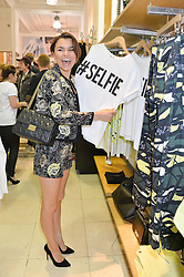SAMANTHA BARKS at a party to celebrate the launch of French Connection's #CANTHELPMYSELFIE -The UK's first in-store interactive selfie booths and windows held at French Connection, 249-251 Regent Street, London on 15th April 2014.