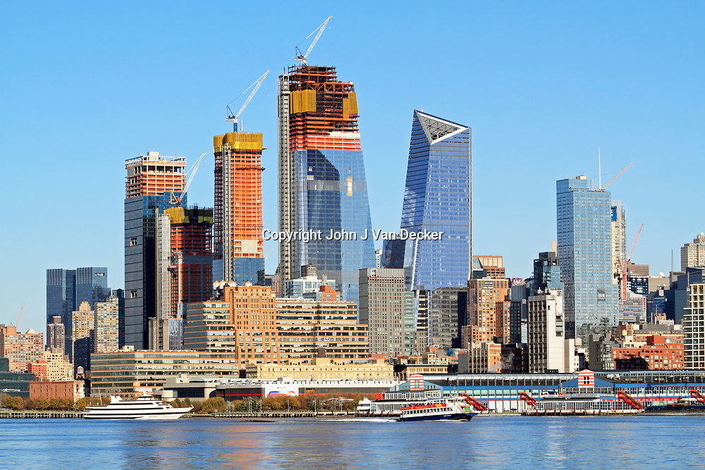 The construction of the Hudson Yards complex in New York City
