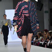 Designer Heather Rowland at the Best of Graduate Fashion Week showcases at the Graduate Fashion Week 2018, June 6 2018 at Truman Brewery, London, UK.
