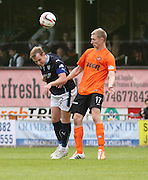 Dundee's Gary Irvine and Dundee United's Chris Erskine - Dundee United v Dundee at Tannadice Park in the SPFL Premiership<br /> <br />  - &copy; David Young - www.davidyoungphoto.co.uk - email: davidyoungphoto@gmail.com