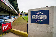 Roots Hall prepares for todays match during the EFL Sky Bet League 1 match between Southend United and Oxford United at Roots Hall, Southend, England on 6 October 2018.